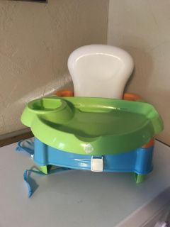 Safety first booster with tray