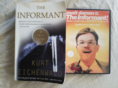 Book & Movie lot. The informant based on a true story.