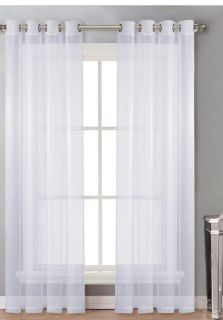 Sheer window curtain panels 96 long - 4 available