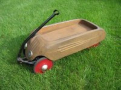 1934 Skippy Deluxe Airflow coaster wagon RARE