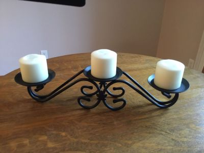 Candle holder, wrought iron by Longaberger