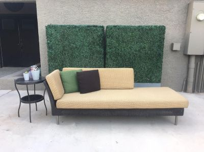 Patio Chaise Sofa + Side Table *excellent quality*