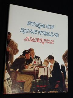 Norman Rockwell's America by Christopher Finch 1985 Hardcover w/ Dust Cover