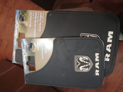 RAM mud flaps and sideless seat cover NEW