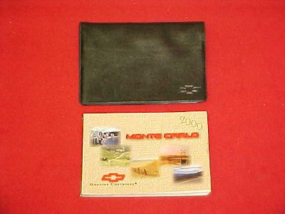 Purchase 2001 CHEVROLET MONTE CARLO ORIGINAL OWNERS MANUAL SERVICE GUIDE 01 W/ CASE motorcycle in Leo, Indiana, US, for US $14.99