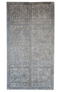 ANNUAL CLEARANCE SALE!!Tribal Vintage Doors Wall Panel India Meditation Yoga Decor
