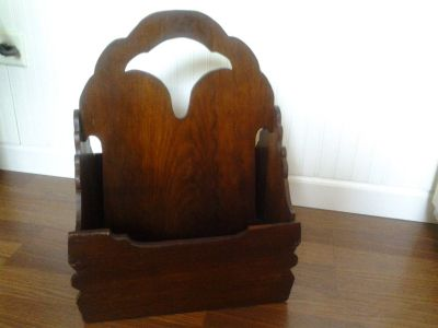 Antique Wooden Magazine Rack
