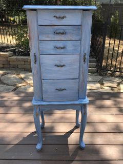 Adorable Jewelry Armoire. Up cycled.