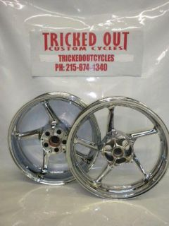 Find 2004-2014 Yamaha YZF R1 Chrome wheels 04 14 R1 chrome rims EXCHANGE ONLY motorcycle in Warminster, Pennsylvania, United States, for US $599.99