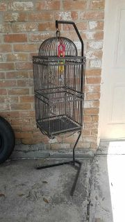 Bird cage with stand..
