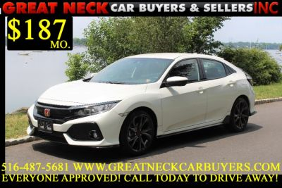 2018 Honda CIVIC HATCHBACK Sport Manual (White)