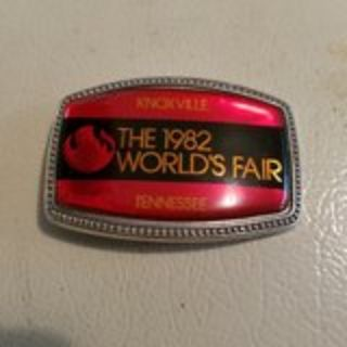 1982 World's Fair belt buckle