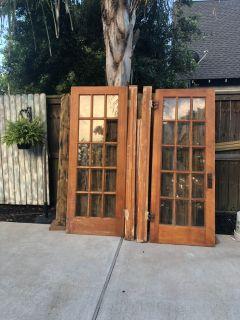 Original solid wood french doors to my house