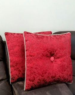 2 Pillows Decorative Red