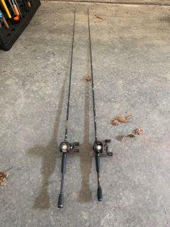 Fishing rods and baitcaster reels