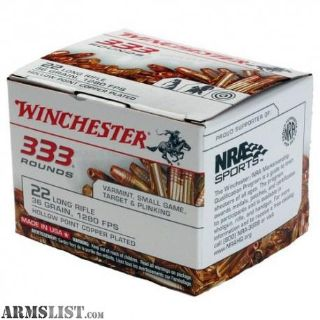 For Sale: 3330rds - Winchester 22lr 36gr CPHP