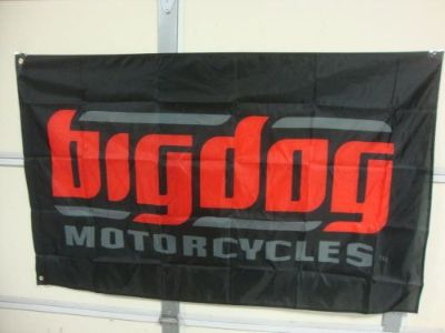 Sell BIG DOG MOTORCYCLES BLACK SIGNATURE LOGO FLAG INDOOR K-9 CHOPPER PITBULL MASTIF motorcycle in Lyons, Kansas, United States, for US $49.99