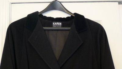 BLACK LADIES KAREN PETITS DOUBLE BREASTED DRESS COAT SIZE 10