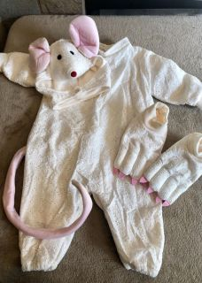 Tom Arma Signature Collection: Adorable White Mouse Toddler Costume (tons of detail)