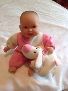 Small 8 inch baby doll with puppy