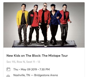 New Kids On the Block Mixtape tour tickets May 9!