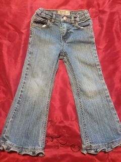 Childrens Place Ruffle Flare Jeans Girls 4T