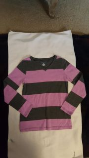Size 6-7, Old Navy light lavender and gray striped