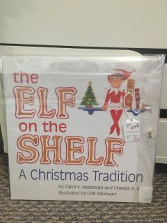Hardcover book - The Elf on the Shelf - Like new!