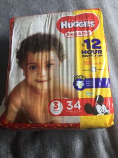 Huggies snug and dry diapers - size 3 (16-28lbs) 34 count