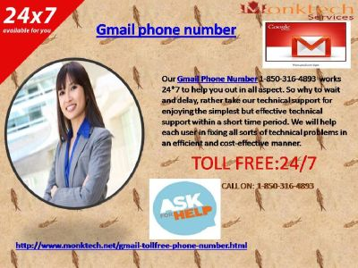 Gmail Phone Number: An Epic recipe to find Gmail glitches @1-850-316-4893