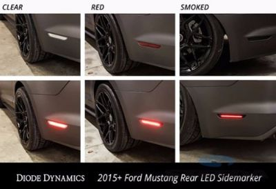Buy 2015 2016 Mustang PAIR of Smoked LED Sidemarkers for 2015-2016 Ford Mustang motorcycle in Ogden, Utah, United States, for US $84.00