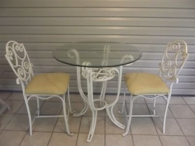 Bistro Table and 2 chairs $75