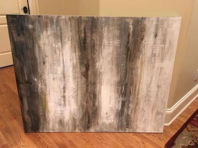 Huge Artsy Painted Canvas Home Decor Piece, 50 x 40!