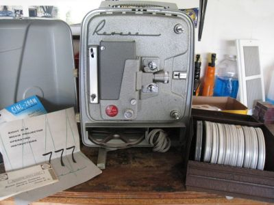 Vintage Revere 777 8MM Movie Projector with 1940's home movies