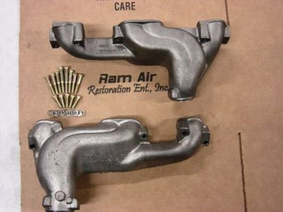"Find 68-74 Pontiac GTO Trans Am 2.5"" round port exhaust manifolds 455HO 455sd RamAir motorcycle in Round Lake, Illinois, United States, for US $449.00"