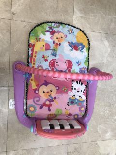 Fisher price kick and play pink piano