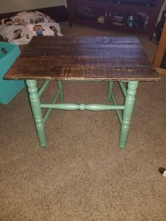 Rustic handmade table..Bought on here but no spot