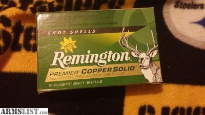 For Sale/Trade: Remington 12 gauge copper solid sabot slug