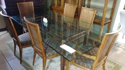 Large Square Glass Table