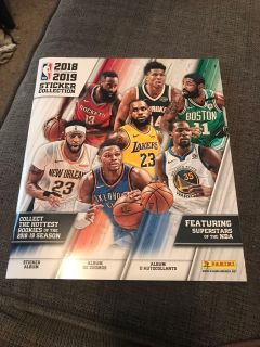 2018 2019 NBA basketball sticker collection book