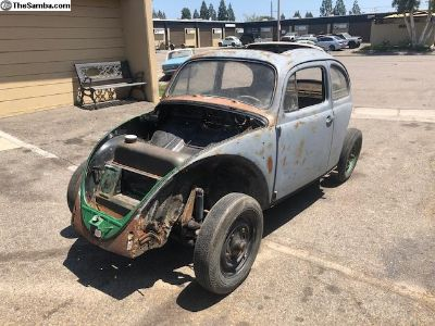 1958 Volkswagen Bug 2 Fold Rag Parting Out