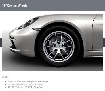 "FS: 718 Cayman OEM 18"" wheels and tires"