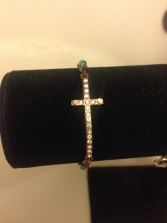 Dainty Rose Gold Cross bracelet
