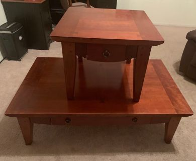 SOLID WOOD Coffee Table & End Table