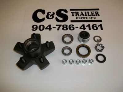 Purchase 3,500# DEXTER HUB ASSEMBLY WITH BEARINGS: 5 ON 4 E-Z LUBE motorcycle in Jacksonville, Florida, United States, for US $45.95