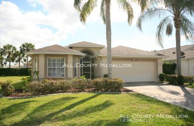 Available Now Beautiful 2 Bedroom Plus Den, 2 Bath  Pool Home in a Gated Golf Community.