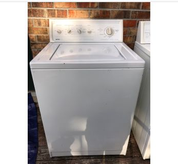 GUC!! KENMORE WASHER-DRYER SET. COMES WITH..NEW HOSES & DRYER VENT...3 PRONG PLUG.. PICK UP ONLY/ IN MOBILE!!