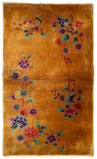 Handmade antique Art Deco Chinese rug, 1B627