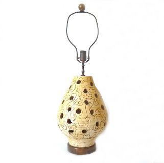 Large Mid Century Boho Modern Ceramic Lamp