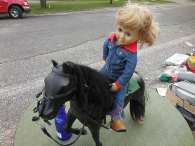 Huge horse and doll